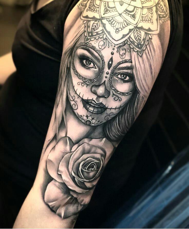 Voce Conhece O Significado Da Tatuagem De Catrina Blog Tattoo2me