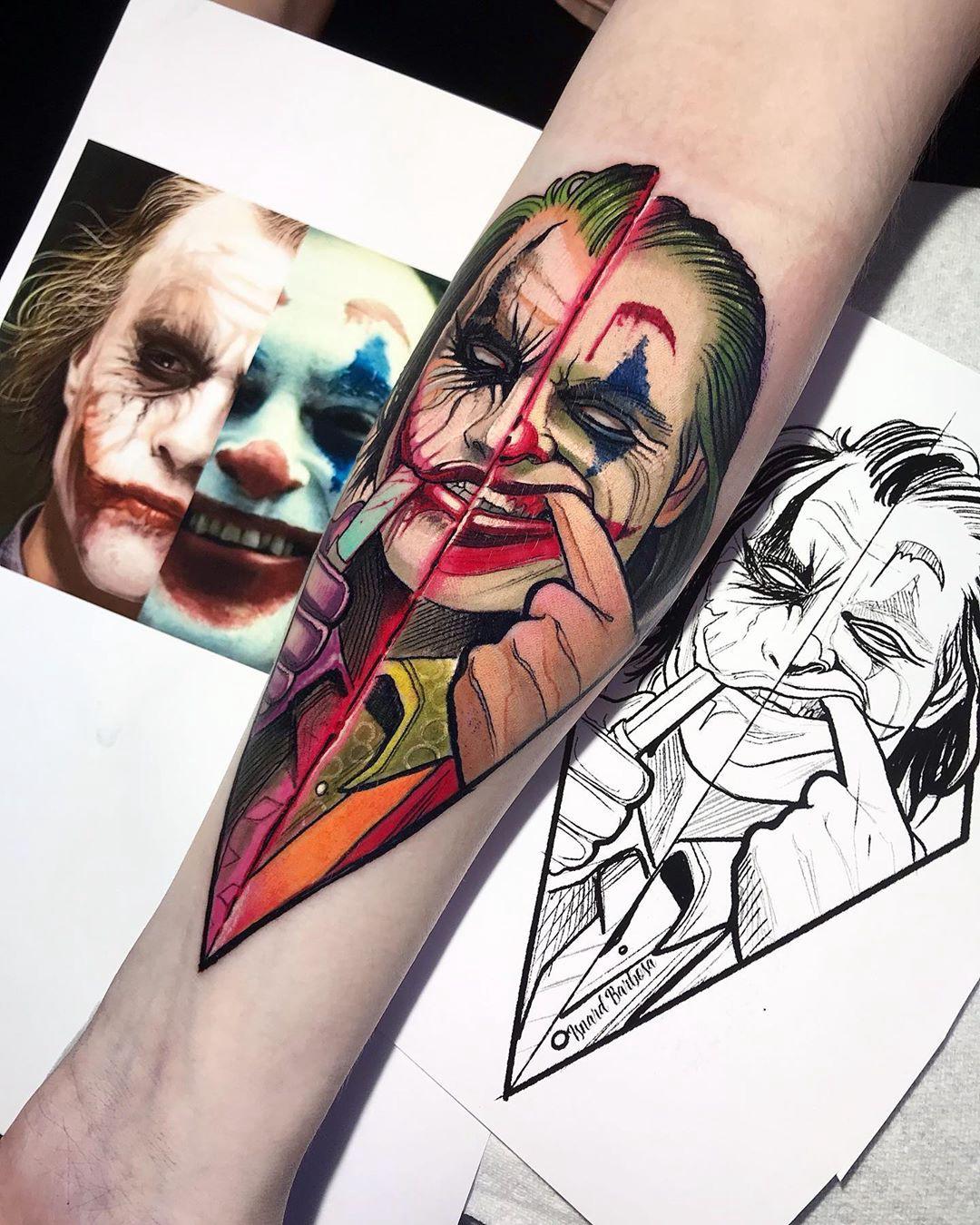 Desenho Palhaço Tatuagem tatuagem do coringa: veja agora 8 tattoos feitas nas últimas