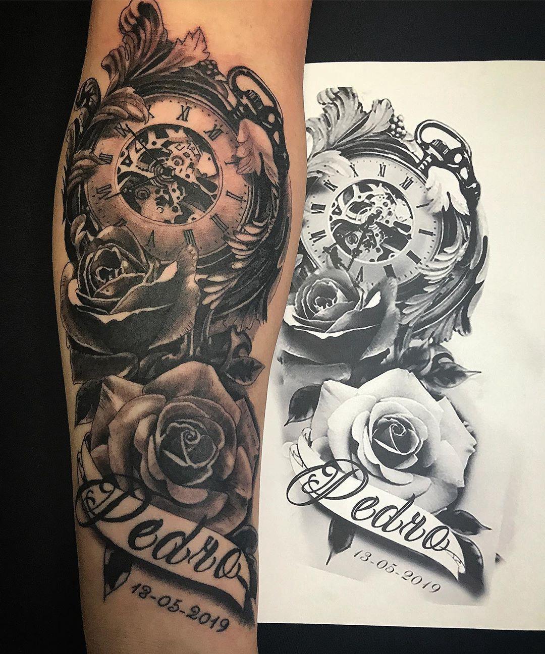 Como Escolher Tatuagem Homem você conhece o significado da tatuagem de relógio? - blog
