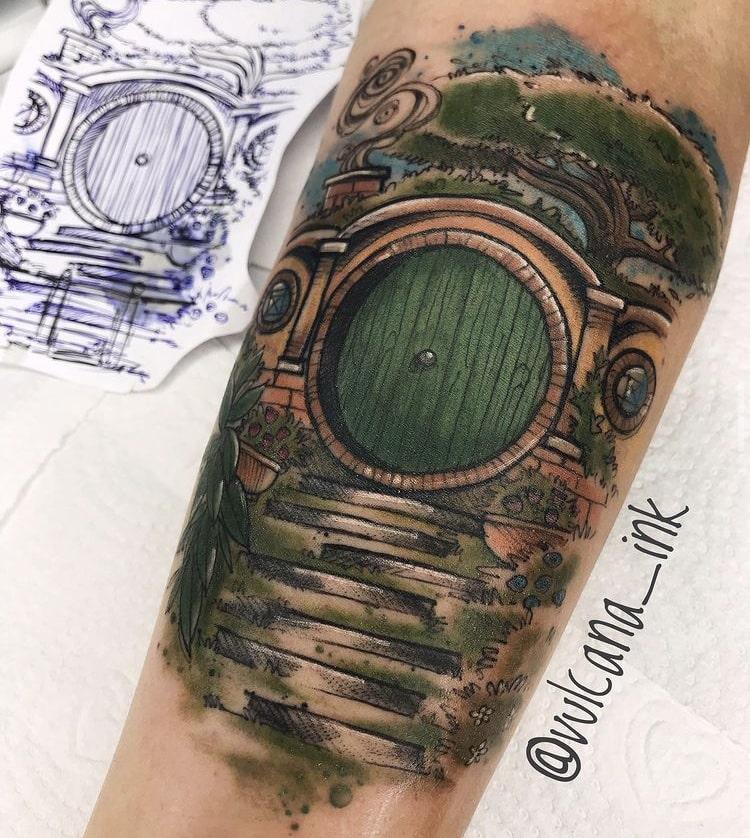 Foto de tatuagem feita por Raphaela Pereira (@vulcana_ink)