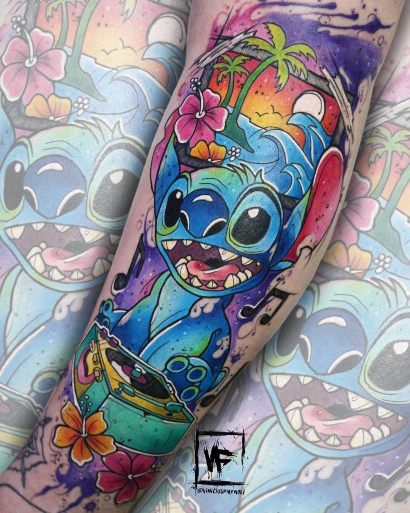 Foto de tatuagem feita por Vinícius Forte Menoli (@viniciusfmenoli)