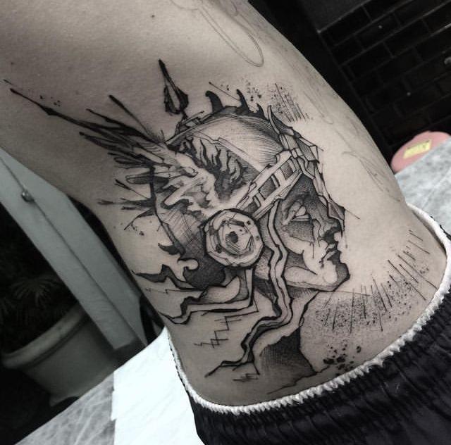 Foto de tatuagem feita por Bruno Oliveira de Carvalho (@rarumaggo.ttt)