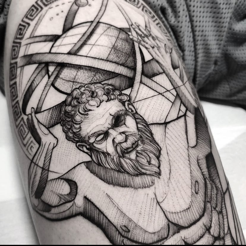 Foto de tatuagem feita por Leandro Amaral (@leandroamaraltattoo)