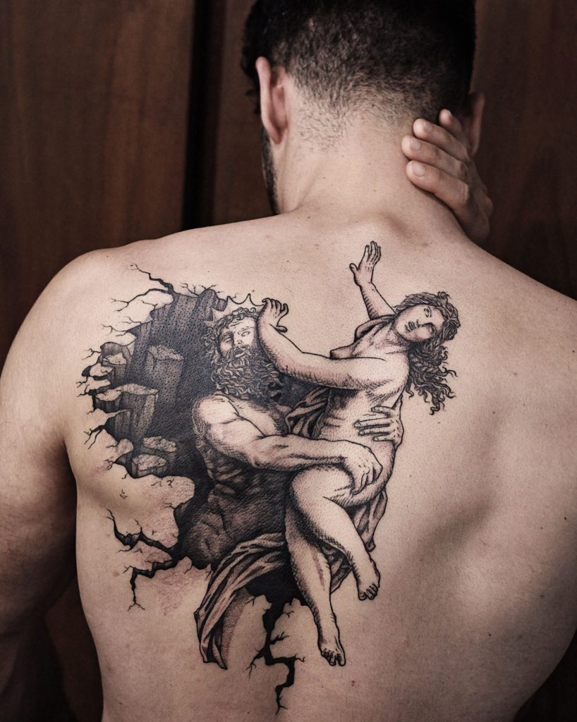 Foto de tatuagem feita por Tiago Silva (@tiago.durer)