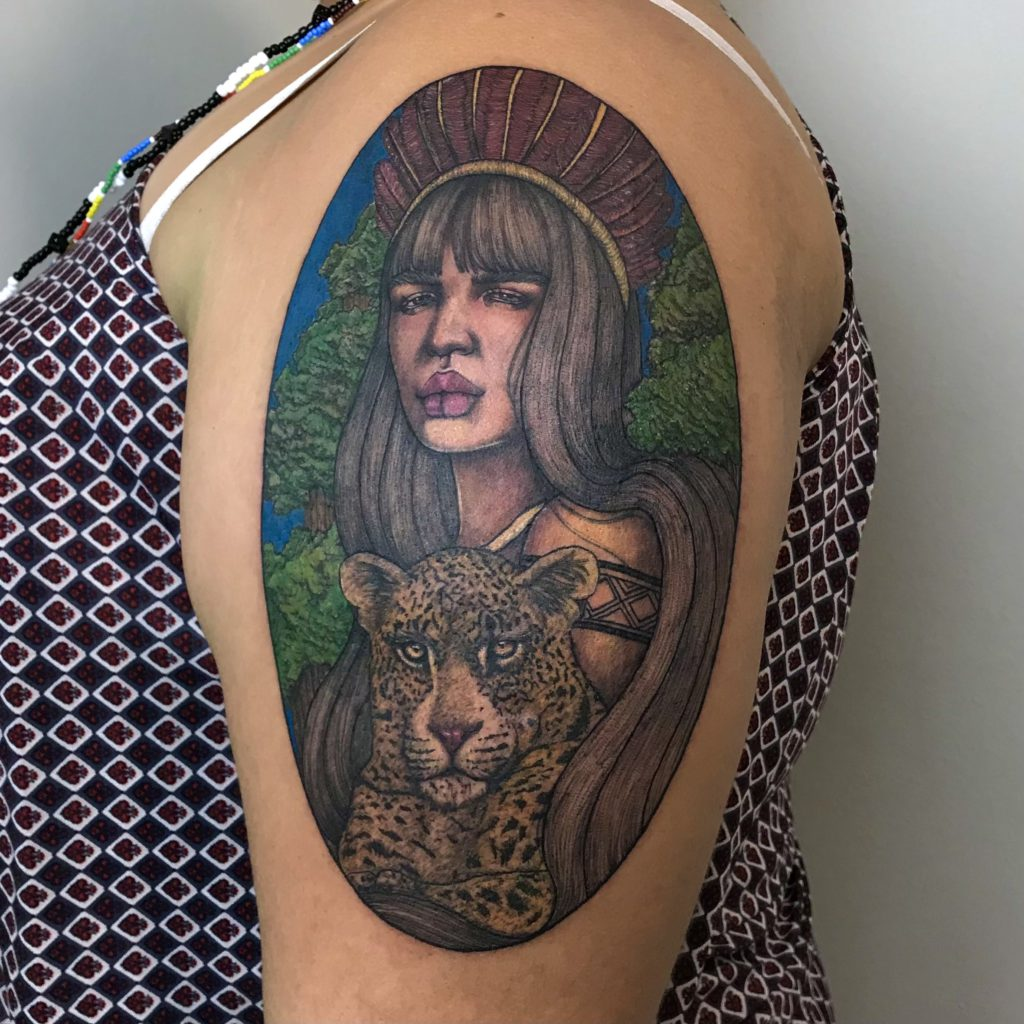 Foto de tatuagem feita por Jacqueline Dias (@diasartz)