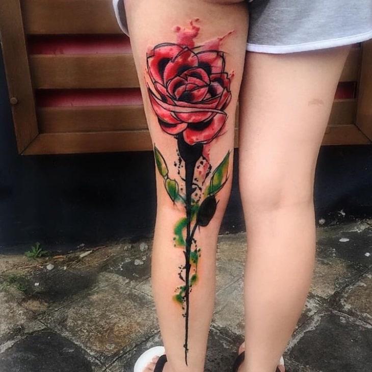 Foto de tatuagem feita por Chris Santos (@xchrissantosx)