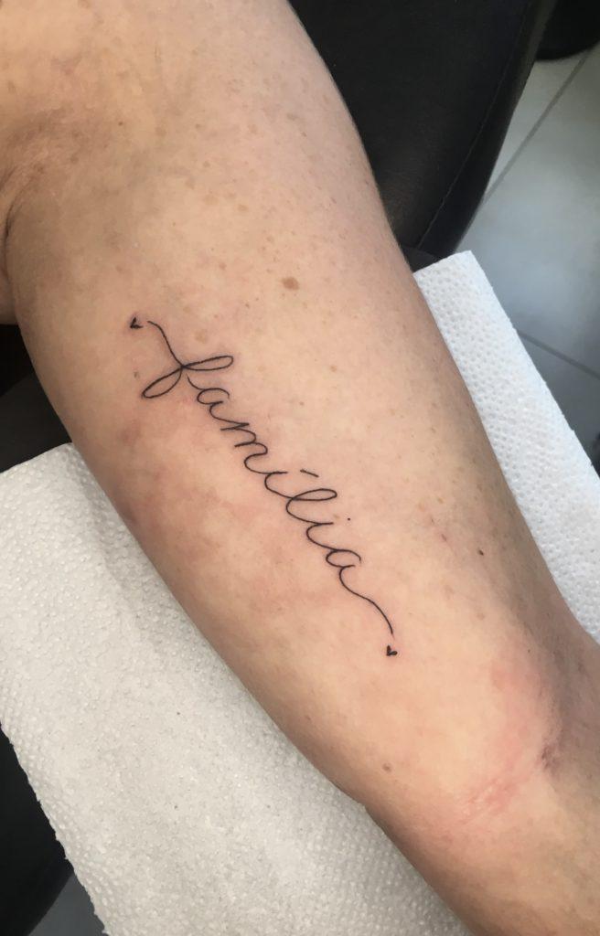 Foto de tatuagem feita por Érica Henrique (@psycoarts_)