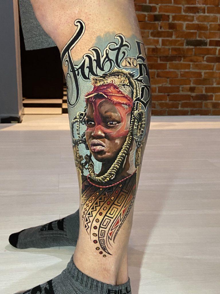 Foto de tatuagem feita por Eduardo Duarte (@duartetattoo)