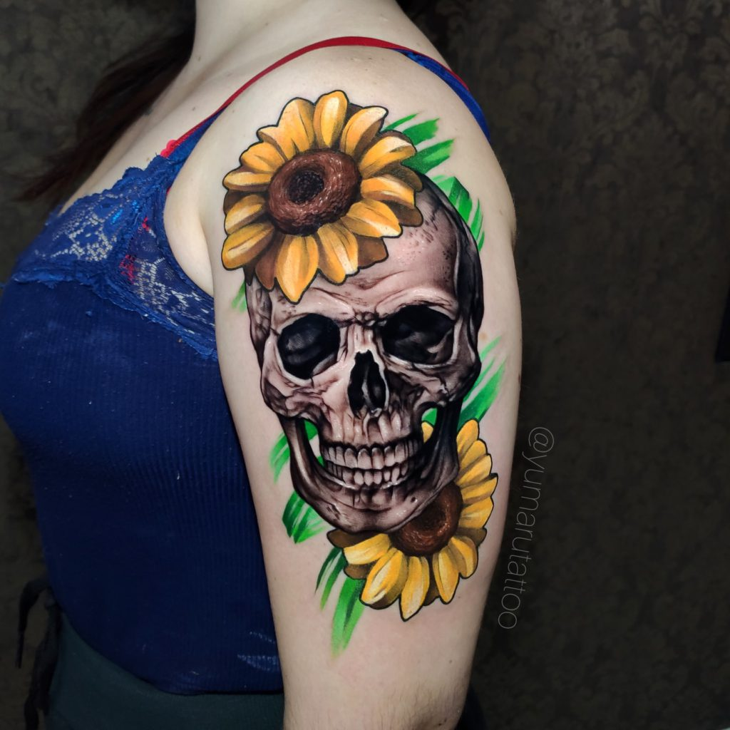 Foto de tatuagem feita por Yumaru (@yumarutattoo.rj)