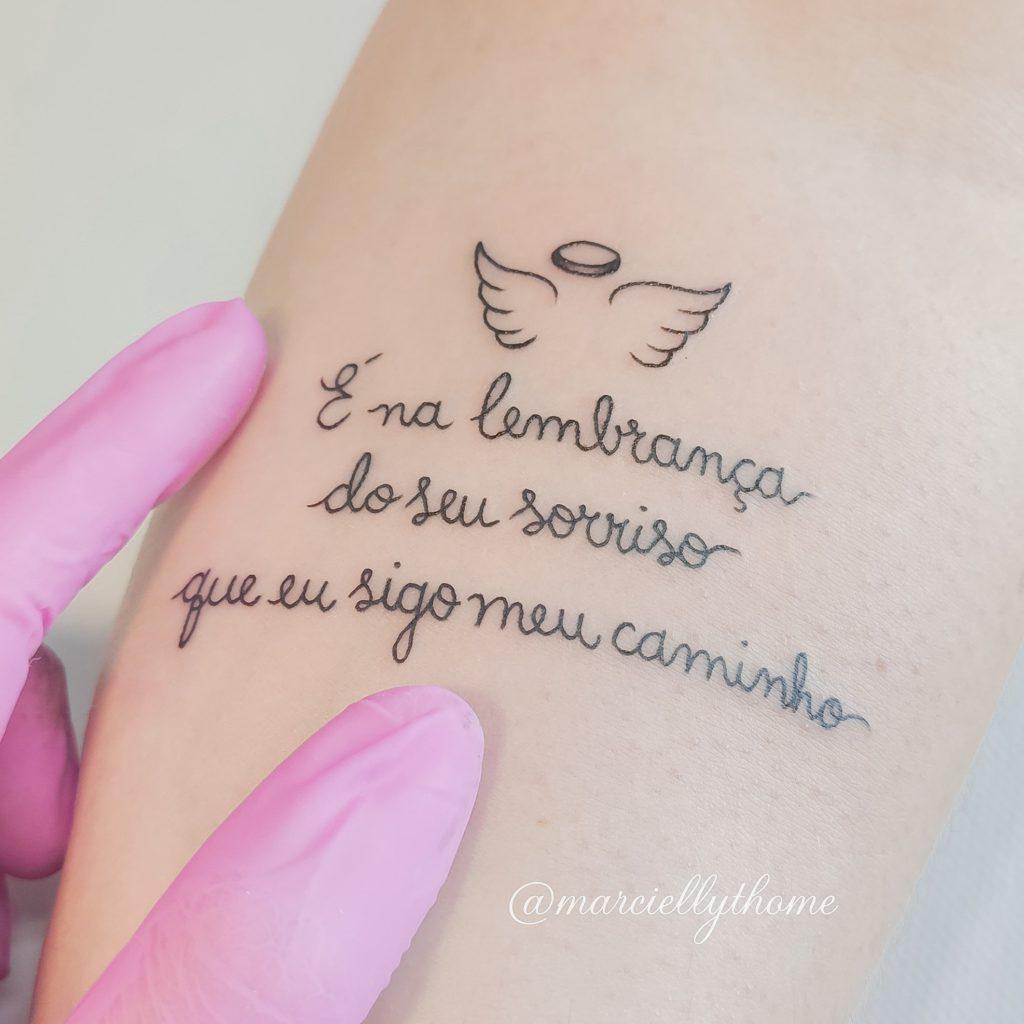 Foto de tatuagem feita por Marcielly Thomé (@marciellythome)